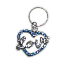 CHARM - LOVE HEART - LARGE - BLUE (DOGO)