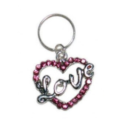 CHARM - LOVE HEART - LARGE - PINK (DOGO)