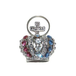 CHARM ROYAL CROWN - PINK & BLUE (DOGO)