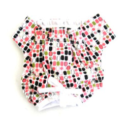 PANTIES - PINK WITH DOTS (Doggie Design)
