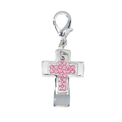 Double Cross Charm - Pink