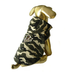 CAMO HOODIE - ARMY BADGE XXS-4XL (Le Chien)