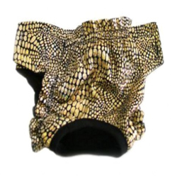 PANTIES - BLACK & GOLD (Doggie Design)