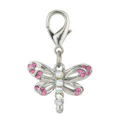Dragon Fly Charm - Pink