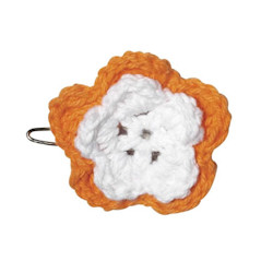 Crochet Barette - Orange