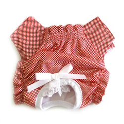 PANTIES - RED & SILVER (Doggie Design)