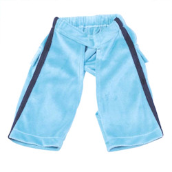 Couture Velour Pants - Blue