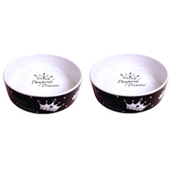PAMPERED PRINCESS BOWLS SET - BLACK (Mason Cash)