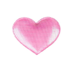 Shiny Heart Barrette - Pink