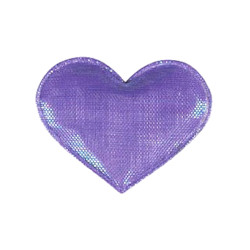 Shiny Heart Barrette - Purple