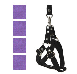 Suede Harness & Leash Set - Purple