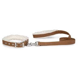 Sherpa Collar & Leash set - Cognac