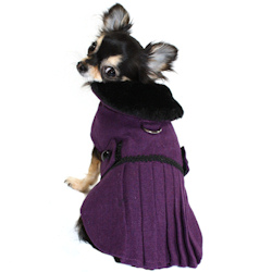 Fancy Wool Coat - Purple