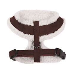 Sherpa/Suede Harness - Chocolate Brown