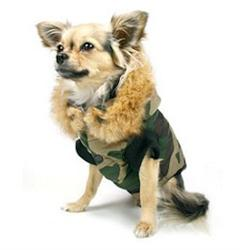 Winter Vest - Green Camouflage