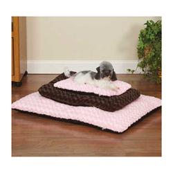 Swirl Plush Mat - Brown