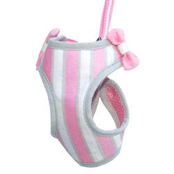 SWEET BOW HARNESS - PINK (DOGO)