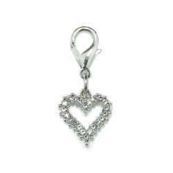 CRYSTAL HEART CHARM - SMALL - CLEAR (Aria)