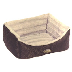 Exclusive Quilted Dog Bed - Brown MEDIUM