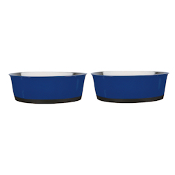 Heavy Bottom Stainless Bowls set - Blue