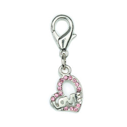 CHARM - LOVE HEART - SMALL - PINK ()