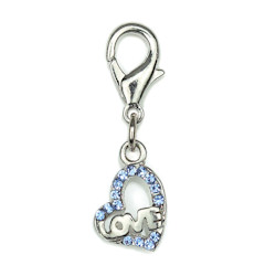 Charm - Love Heart - Small - Blue