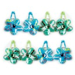 Barette Clip with Bright Color - 1 Blue & 1 Green