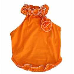 RUFFLE & ROSE TANK - ORANGE (Little Bones)
