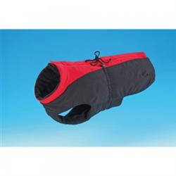 Dog Coat - Black/Red