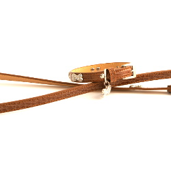 Exclusive Leather Collar & Leash Set - Beige