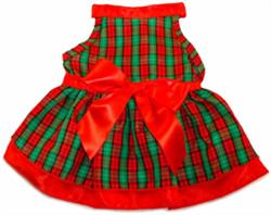 RED/GREEN PLAID WITH SATIN RIBBON (ISS)
