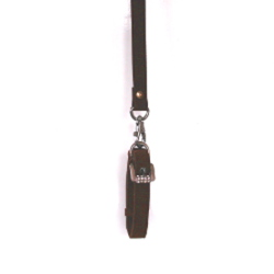 Velvet Collar & Leash Set - Dark Brown