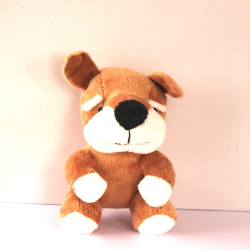 Plush Bulldog - Brown