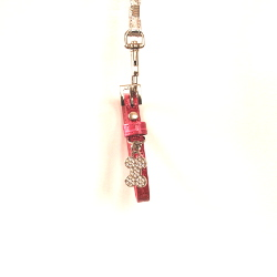 Croco Collar with Bone Charm - Pink