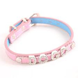 Leather Collar for Charm Letters - Pink