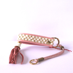 Exclusive Collar with Tassels - Pink