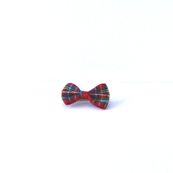 CHECKERED BOW - RED ()