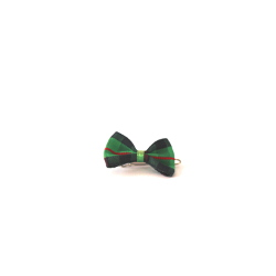 CHECKERED BOW - GREEN ()