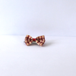 Checkered Bow - Red/white