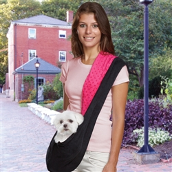 Sling Carrier - Pink & Black