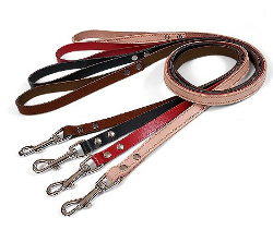 LEATHER LEASH - BROWN ()