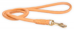 Round Leather Leash - Beige
