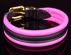 Superior Leather Collar Plus - Hot Pink