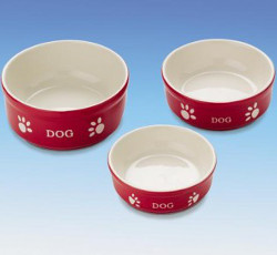 Dog Bowls Set - Red