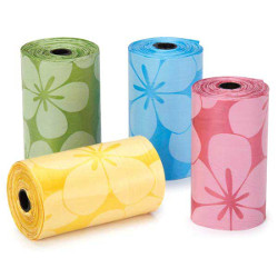 FLOWER POOP BAGS - YELLOW ()