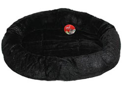 Round Teddy Bed - Black