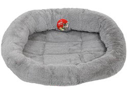 Round Teddy Bed - Grey