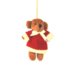 CHRISTMAS BEAR WITH SANTA CLOTHES - BEIGE ()