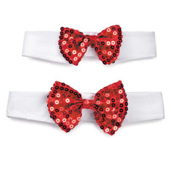 SEQUIN BOW TIE - RED (Aria)