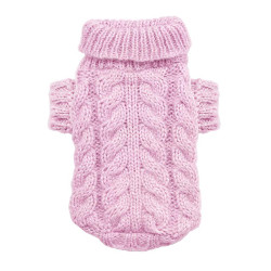 Cable Knit Sweater - Pink